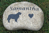 Pet Memorial Stone Golden Retriever Tombstone Grave Stone Marker 8-9 Inch