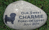 Maltese Pet Memorial Stone Tombstone Grave Marker Headstone10-11 Inch
