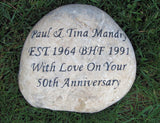 Personalized Anniversary Gift Engraved Stone 10th 20th 30th 40th 50th 10-11 Inch Garden Wedding Anniversary Stone
