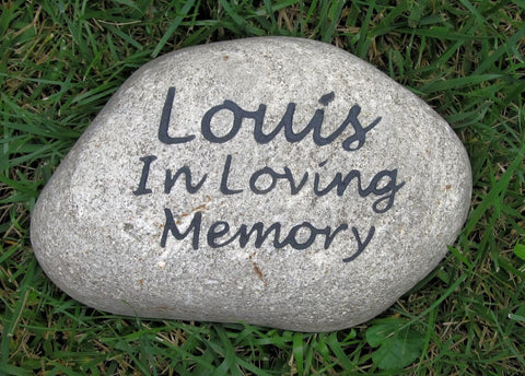 Personalized Pet Memorial Stone Grave Marker In Loving Memory of Your Pet 8-9 Inches Memorial Burial Cemetery Tombstone Grave Marker