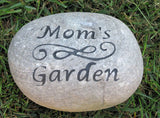 PERSONALIZED Garden Stone for Mom Dad 7-8 Inch Garden Stone - Perfect for Mother's Day or Father's Day Gifts - Pet Memorial Stones, Personalized Pet Stone Memorial Grave Marker, Dog Memorial, Cat Memorials, Pet Gravestone Markers, Headstone
