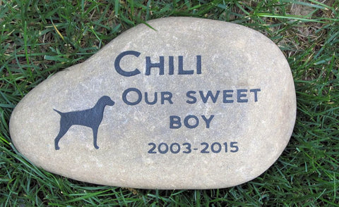 Vizsla Memorial Stone, Pet Memorial Stone, Any Breed 9-10 Inch