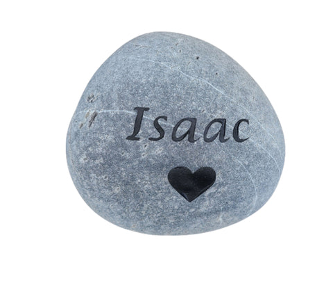 Pet Memorial Stone Grave Marker with Heart 5-6 Inch