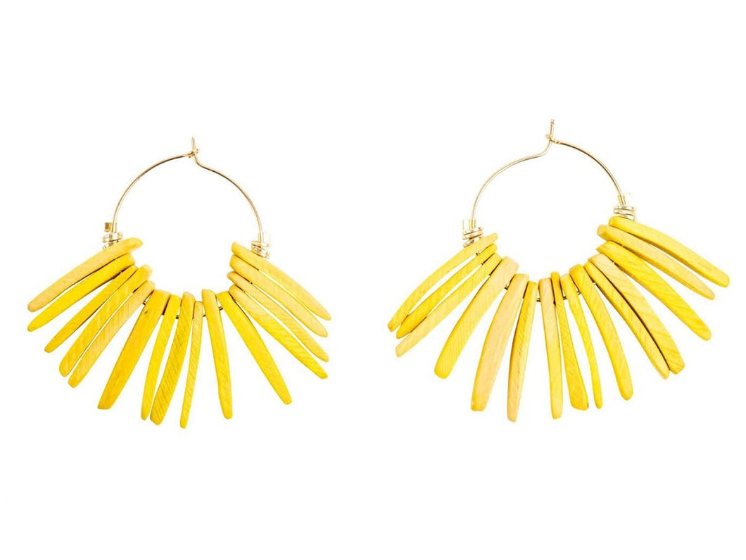 Yellow Shorty Seychelles Earrings
