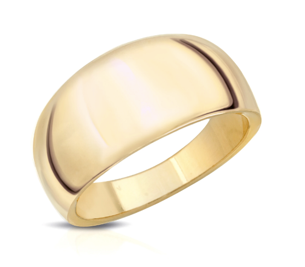 Gold Tapered Dome Ring