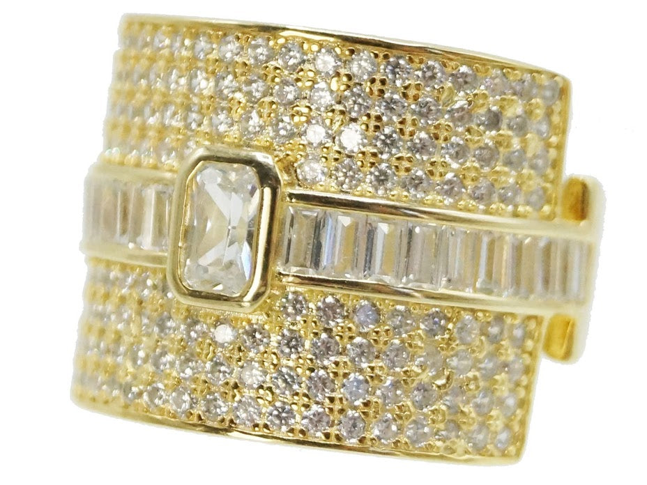 Gold Eternity Band w/ Center Stone