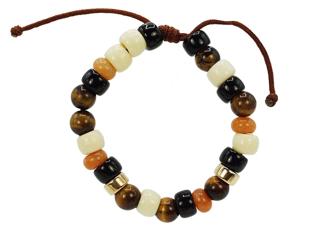 Safari Stone and Bead Bracelet