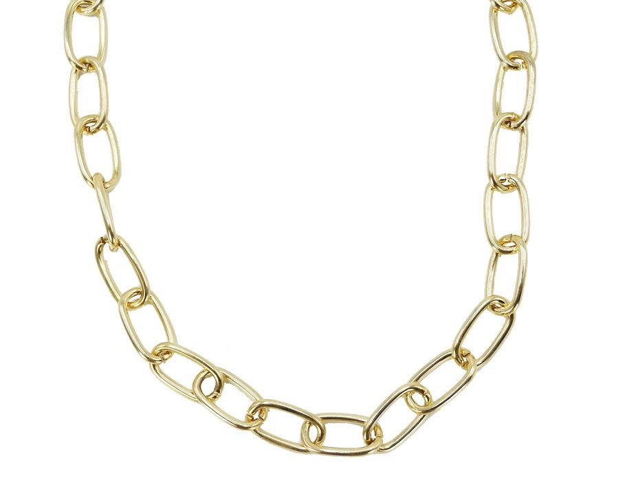 Oval Link Chain with Toggle