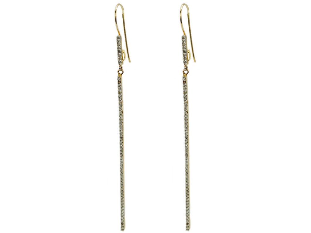 Diamond Line Earrings
