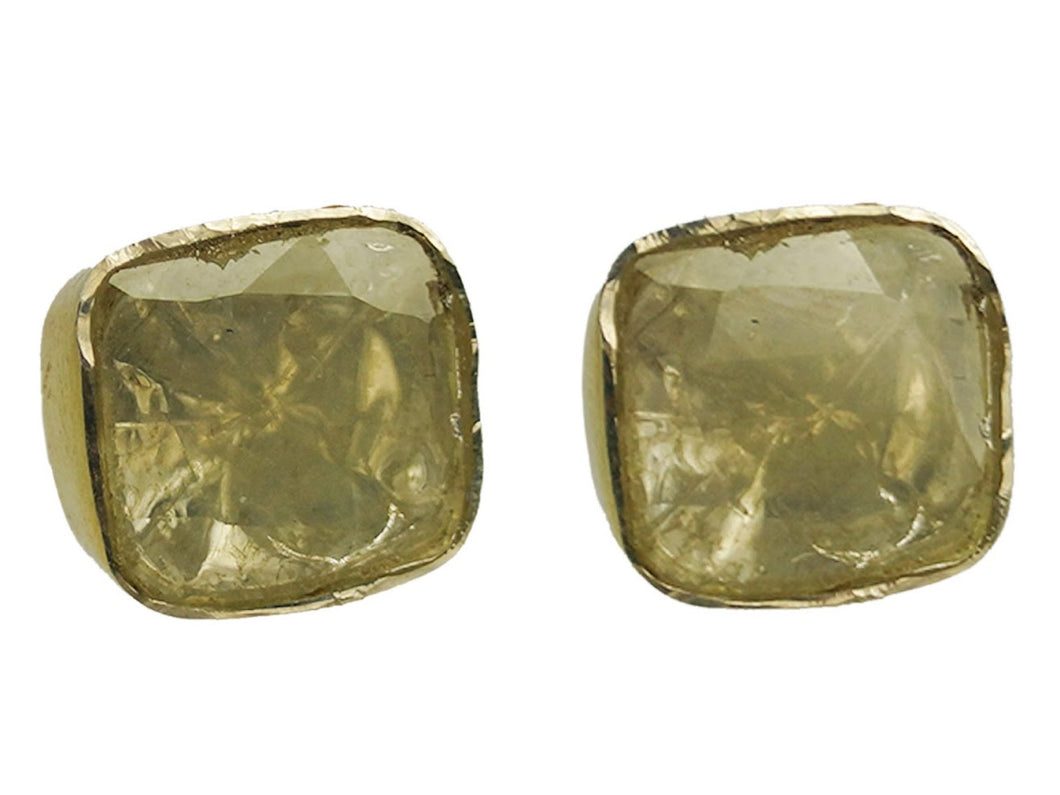 Rose-Cut Diamond Studs