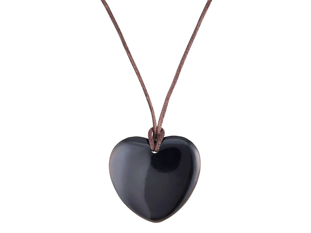 Dark Horn Heart Necklace