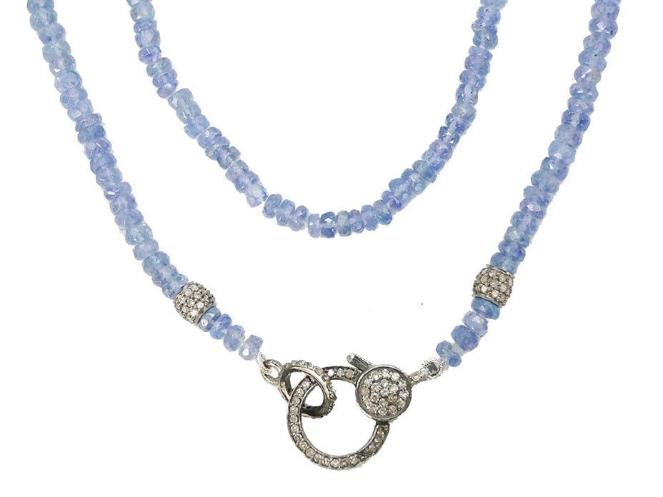 Tanzanite Necklace with Diamonds