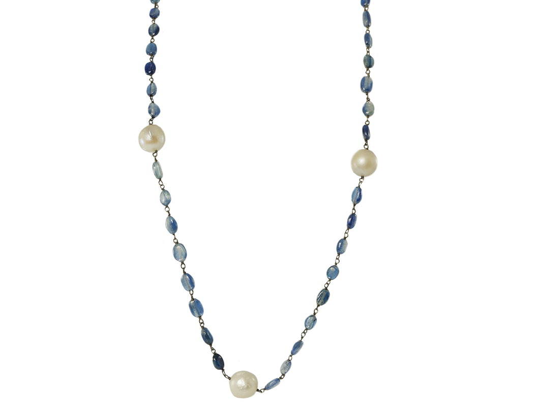 Pearl and Kyanite Necklace