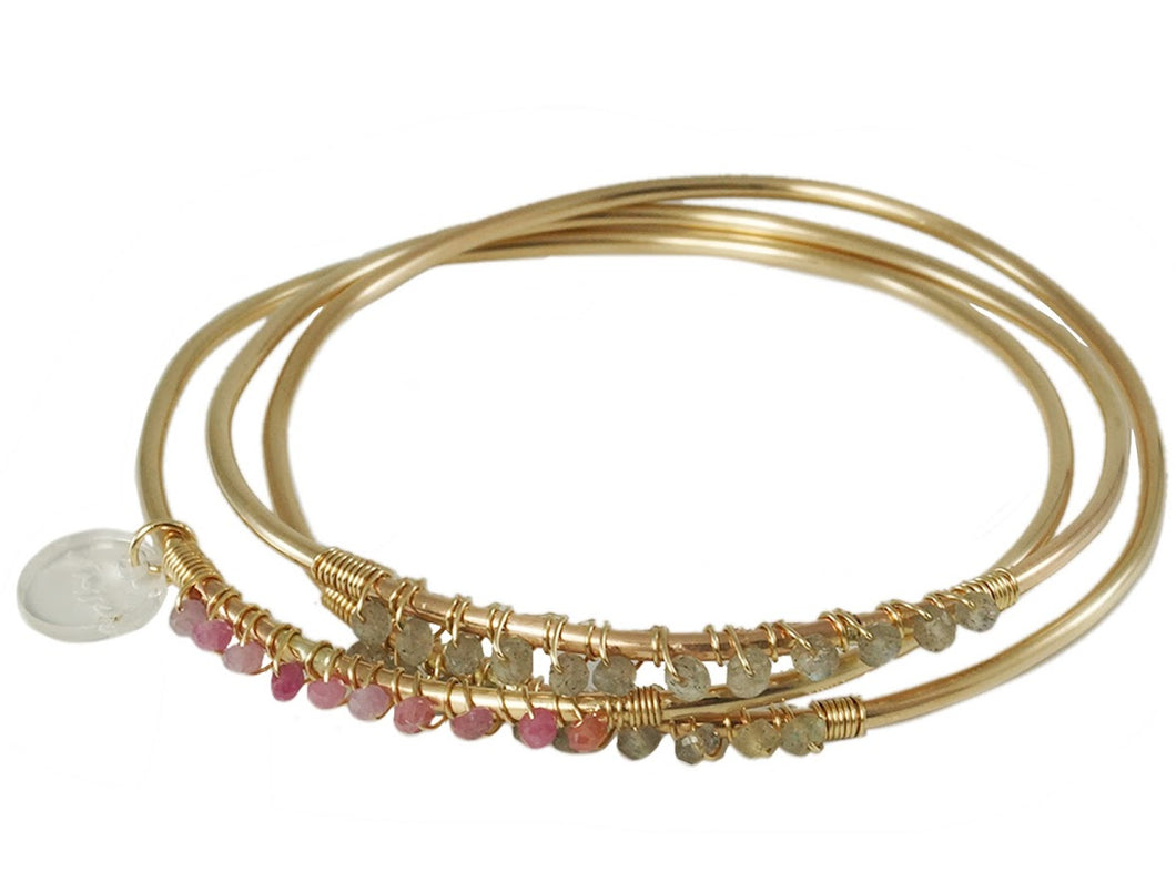 Jeweled Gold Bangles