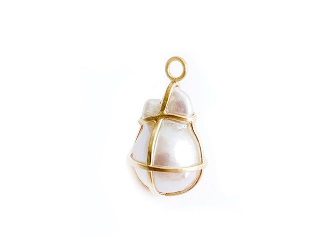 Caged Baroque Pearl Amulet