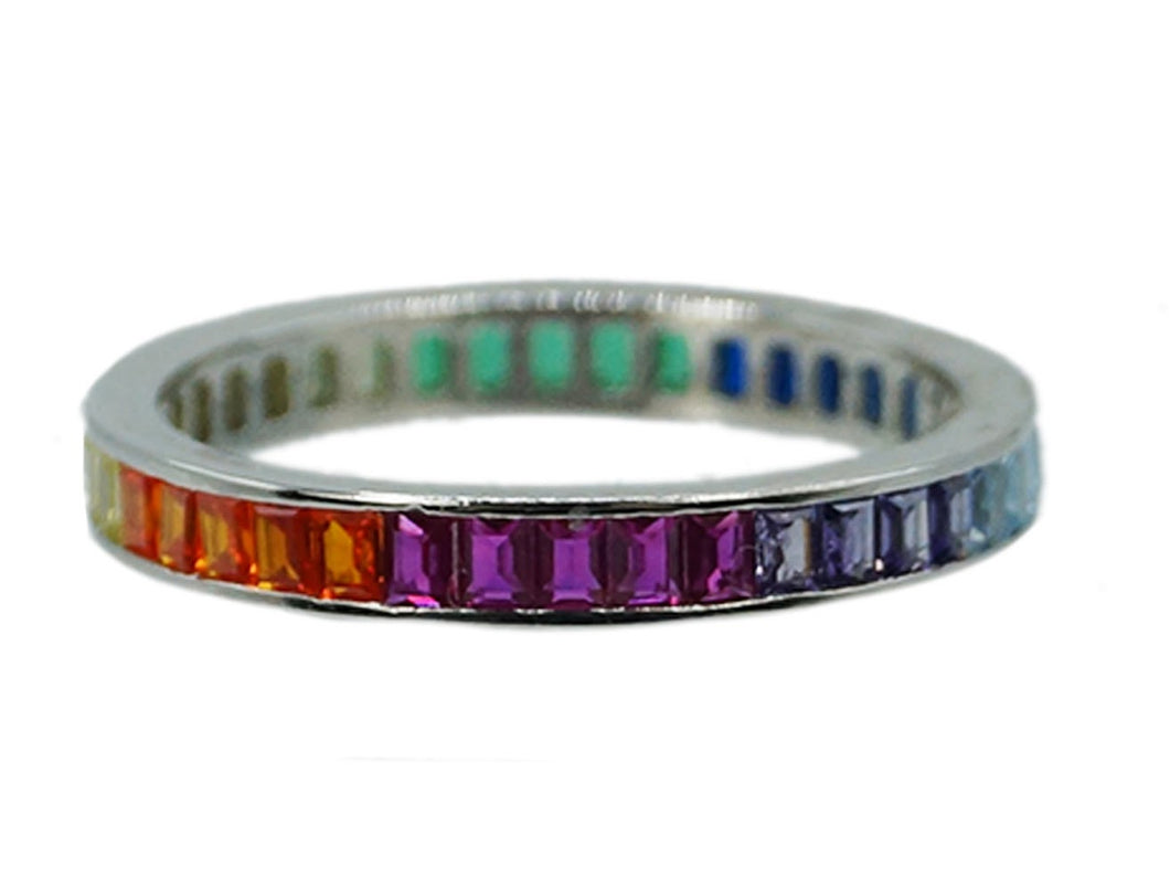 Silver Rainbow Band