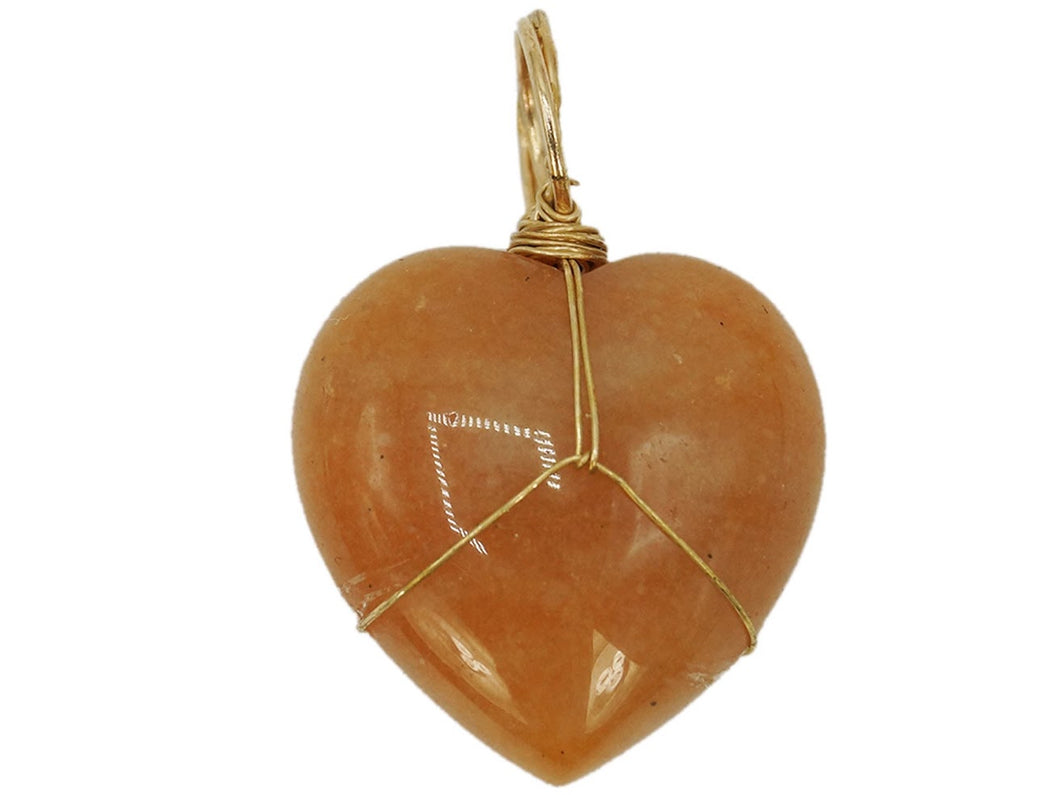 Red Aventurine Heart Charm