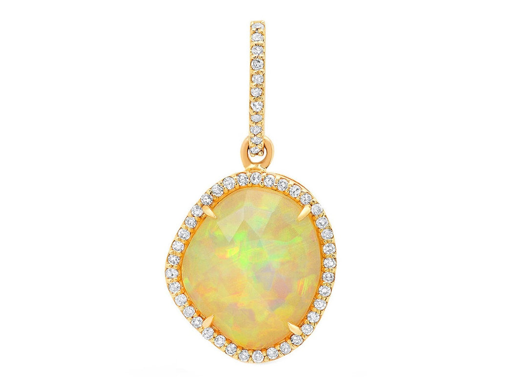 Opal Charm with Diamonds