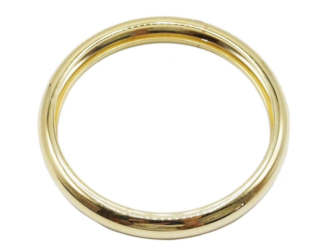 Gold Domed Bangle Bracelet