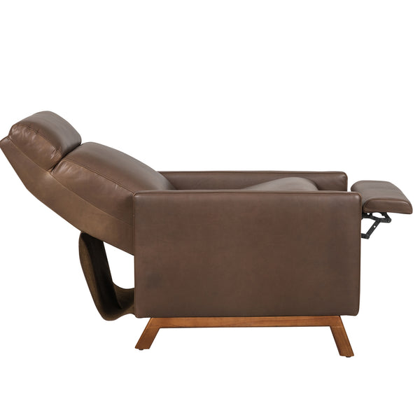 Calhoun Leather Pushback Recliner