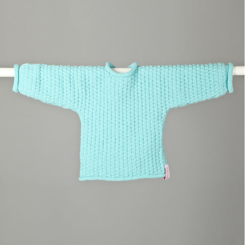 Dice Stitch Sweater - Deep Aqua