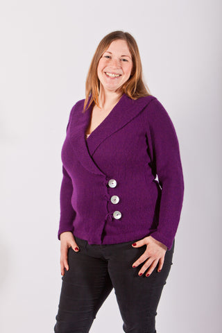 De Havilland Raglan Wrap Jacket Sample in Blackberry