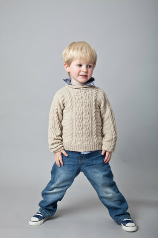 Cable and Bar Aran Sweater