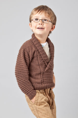 Shawl Neck Cardigan - Chocolate