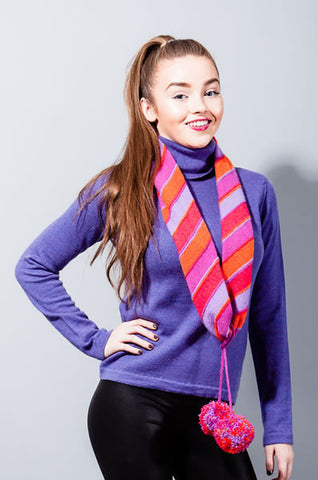 Tilt Infinity Scarf - Strawberry & Orange