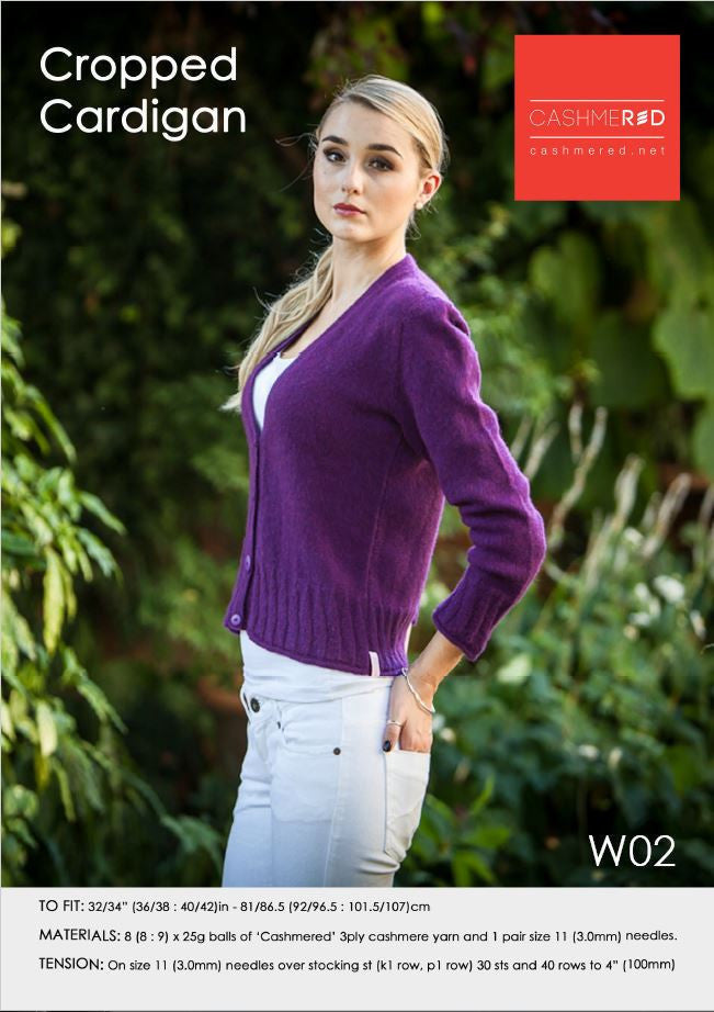 Cropped Cardi - Pattern Download