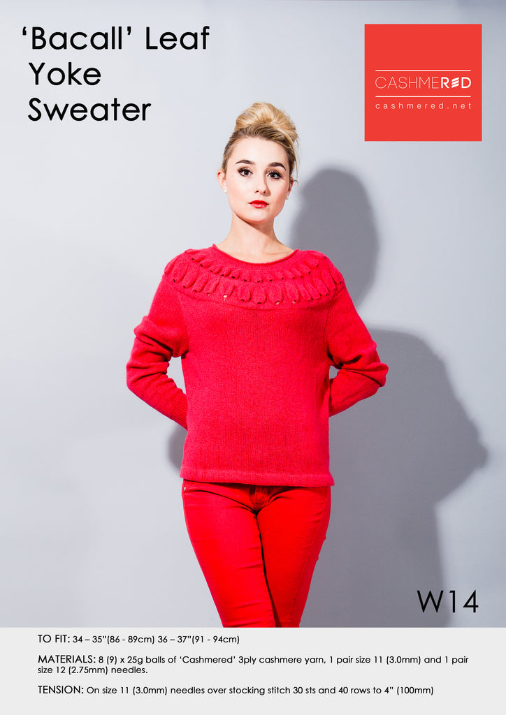 Bacall Leaf Yoke Sweater - Pattern Download