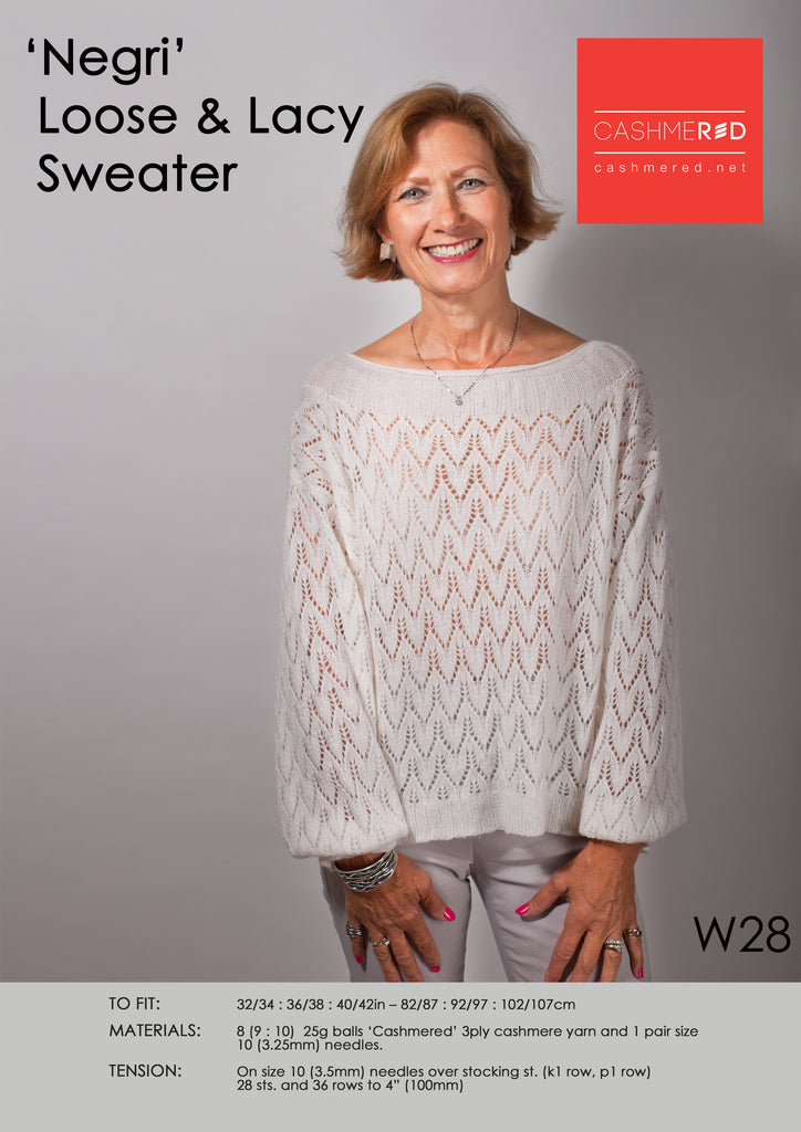 Negri Loose and Lacy Sweater - Pattern Download