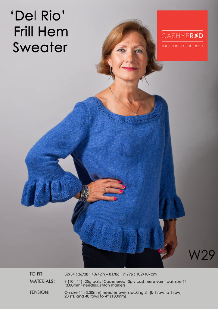 Del Rio Frill Hem Sweater - Pattern Download