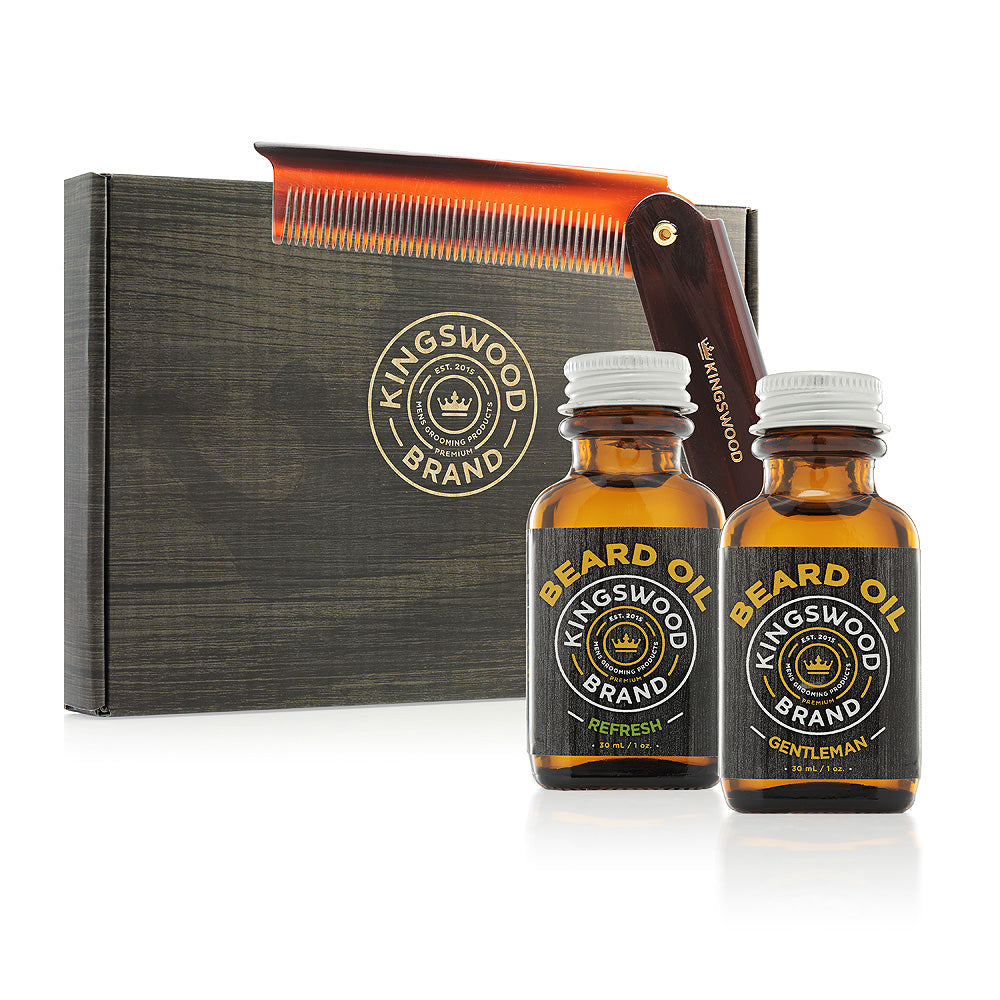 2 PACK BEARD OIL GIFT BOX