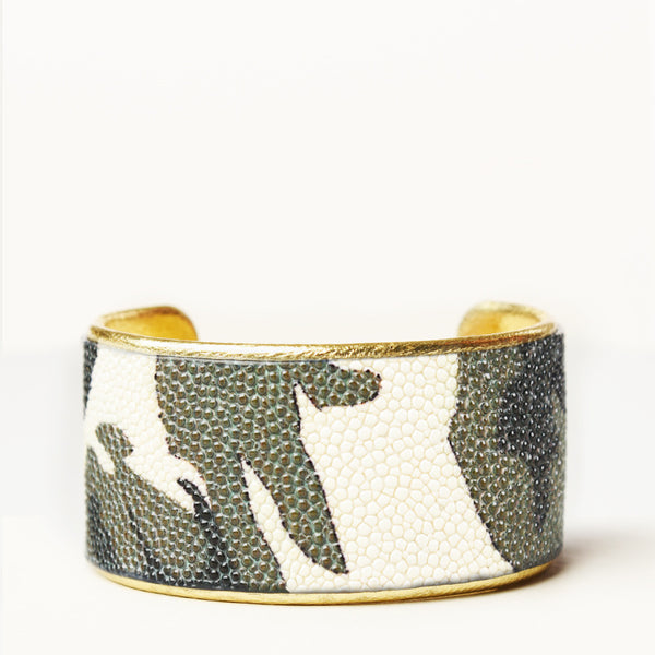 "1.5"" Camo Patterned Cuff with Gold Liner"