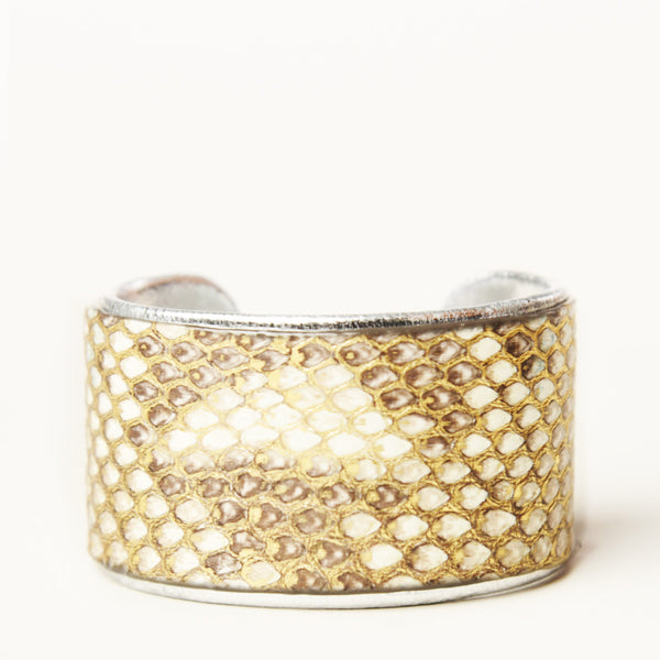 "NEW - 1.5"" Cashmere Ruffle Cuff with Silver Liner"