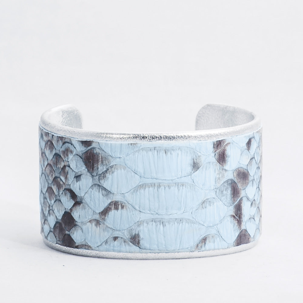 "1.5"" Light Blue Python with Markings with Silver Liner"