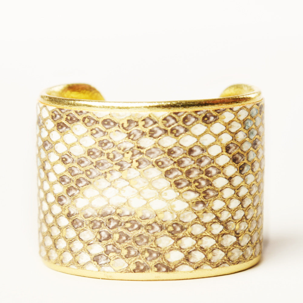 "NEW - 2"" Cashmere Ruffle Cuff with Gold Liner"