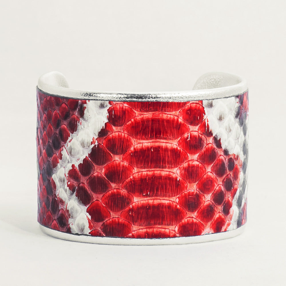 "2"" Red/Black/White Python with Silver Liner"