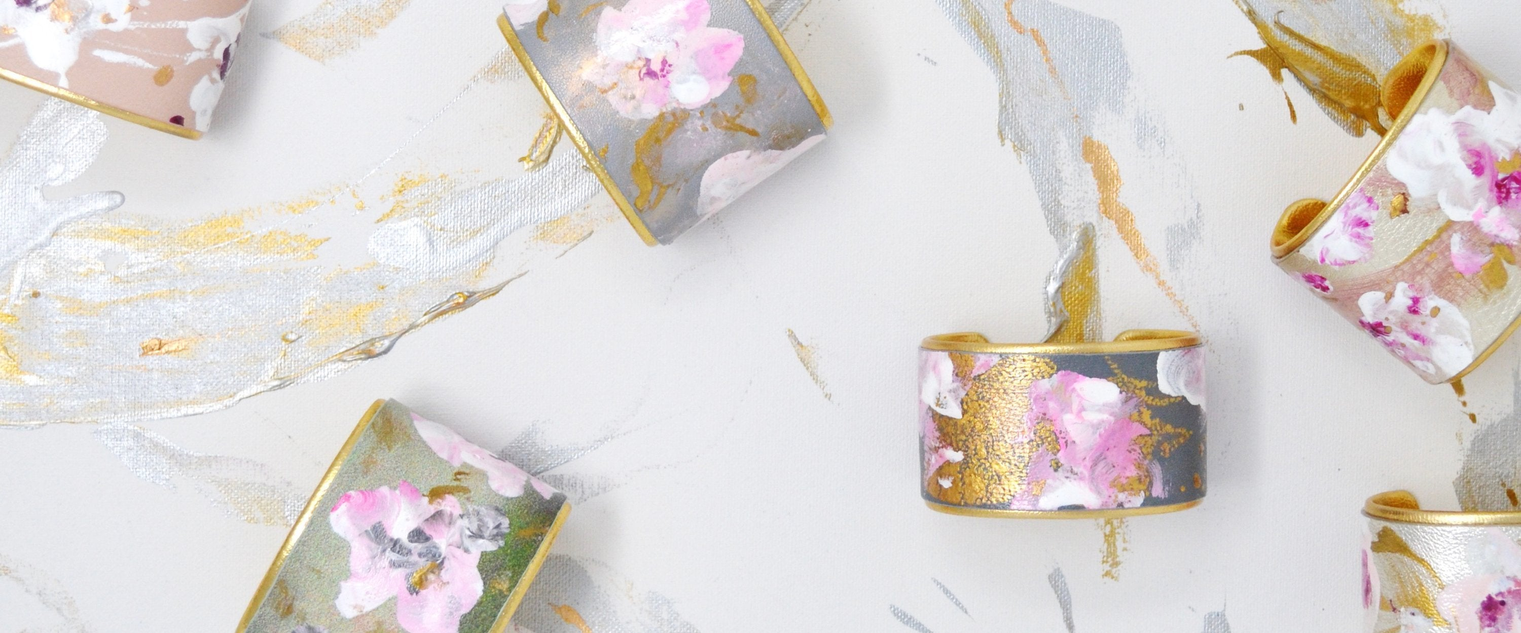 Chinoiserie Chic Floral Cuffs