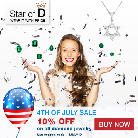 4 July Sale at Star of D - Fine Jewish Jewelry