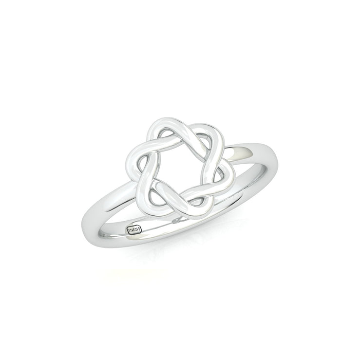 Rounded Interwoven Star of David Gold Ring