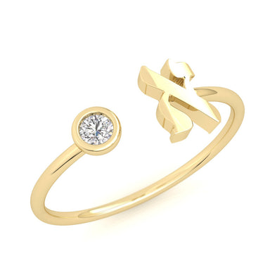 Hebrew Letter Gold Ring