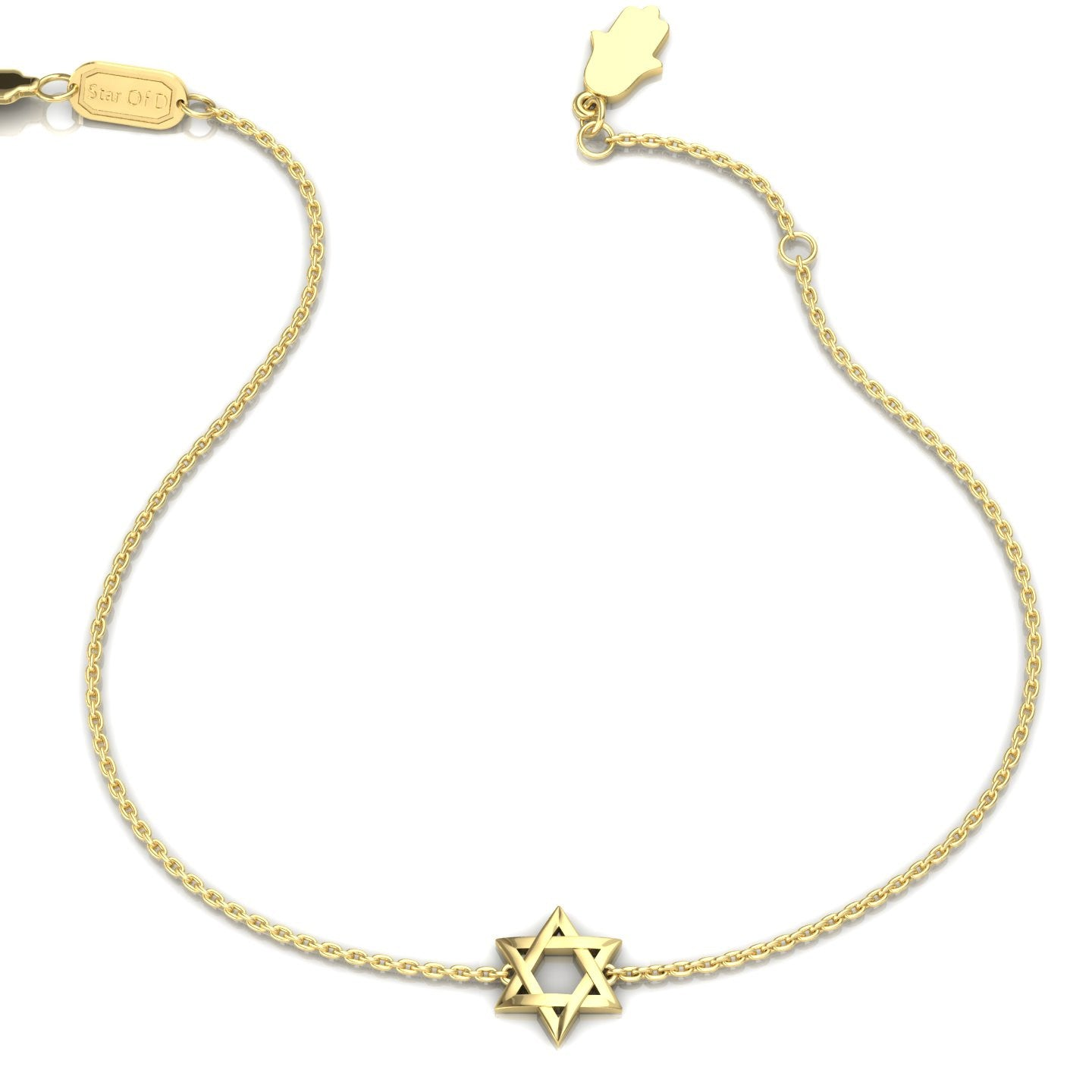 Star Of David With A Small Hamsa Closer Gold Bracelet Star Of D