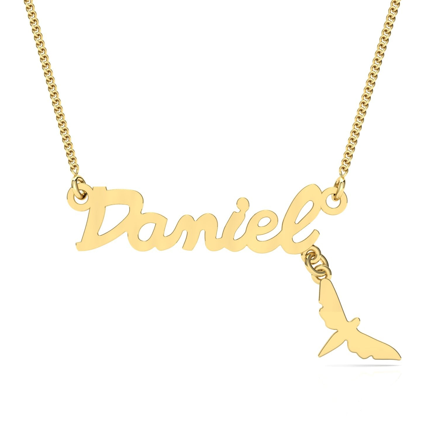 gold name tyche necklace jewellery product diamond nyc yg script