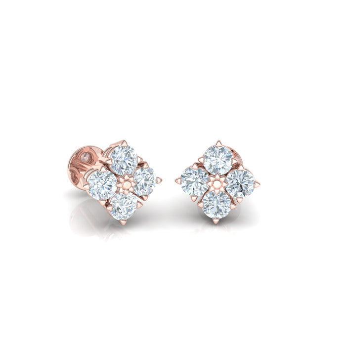 Serenity Earrings Adorned With Natural Gems And Diamonds
