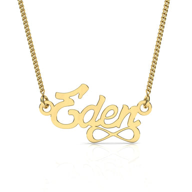 "Name Necklace ""Infinite"" Gold Pendant"