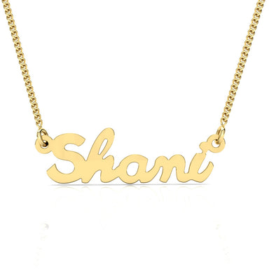 "Name Necklace ""Ink"" Gold Pendant"