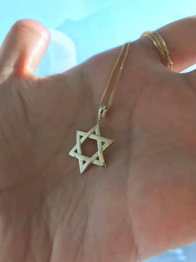 Interwoven Star of David Gold Pendant