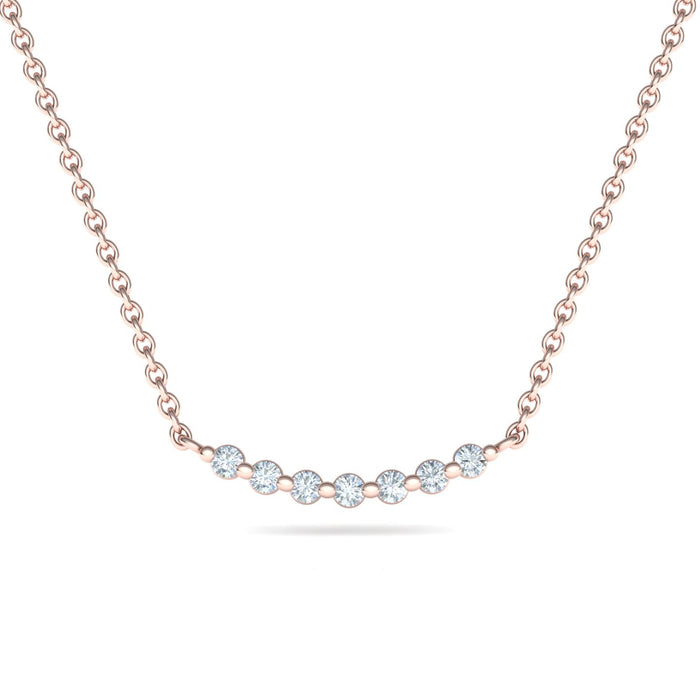 Seven Stars Necklace Adorned With Diamonds